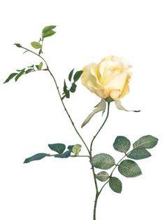 Artificial Rose, Short Stem 'Alice Rose' Yellow