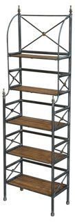 Morris Iron Bookcase, Natural/Black