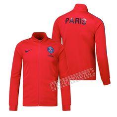 Aaa Qualité: Veste Du Paris Saint Germain Rouge 2017/2018 Nouveau Personnalisable :Foot769Fr