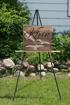 20x20 Personalized family name board with birds distressed sign *Personalized wedding decor *Wedding Sign *Wedding Shower *Last name signs * by RyansPlaceHomeDecor on Etsy