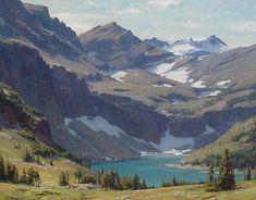clyde aspevig   CLYDE ASPEVIG - Lago escondido no Glacier National Park