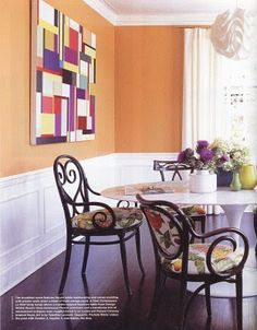 The right shade of orange.  Not too dark and not too bright...a good eggshell finish.