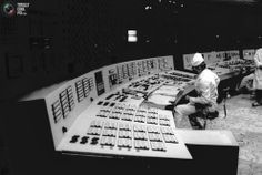 A technician monitors nuclear reactor number 3 in a control room of the Chernobyl power plant.