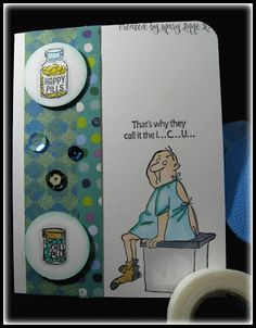 Art Impressions Rubber Stamps: Ai @ Michael's: Get Well SC0681, clear stamps. Handmade masculine get well card..