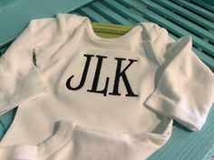 Custom Name Baby Onesie Preemie Newborn 0 3 6 9 12 18 24 mo 2-3-4-5T T-Shirts Boy Girl White Personalized Front Monogrammed Embroidered gift by NYLAKELLEYDESIGNS on Etsy