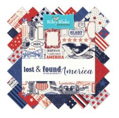 New Riley Blake America Fabric Collection  5 squares
