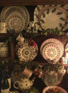 Emma Bridgewater Christmas display 2014 Christmas Dishes, Christmas Tablescapes, Christmas Bulbs, Christmas Design, Christmas Themes, Christmas Decorations, Magical Christmas, Christmas Is Coming, Primitive Christmas