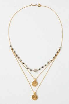 Medallion Layer Necklace #anthropologie