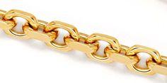 Foto 2, Massive Anker Kette Goldkette Gelb-Gold Rötlich 18K/750, K2280