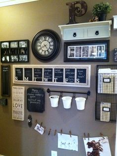 Family Command Center and Message Board. Summer project completed! Made all the chalkboard pieces ourselves. by Orris