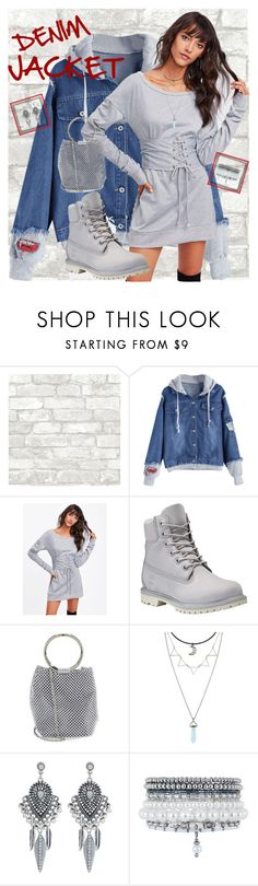 """""""denim jacket"""" by traceyenorton ❤ liked on Polyvore featuring Timberland, Jessica McClintock, Hot Topic, Accessorize and Monsoon"""