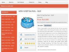 Intex Easy 15' Quick-Set Ring Pool includes a repair patch and more, and the pool is 36 inches deep. This pool sets up in only 10 minutes, and it holds up to 8  http://www.intexpoolindia.com/bangalore/10-feet-diameter-easy-setup-pool-10i25.html
