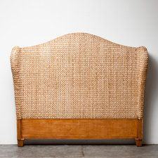 Bedroom | Product Categories | Made Goods // Love the shape and style, upholstered in wool maybe?
