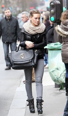 Hilary Duff Style so obsessed with this look - http://AmericasMall.com