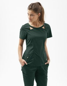 Cute, flattering scrubs for women.