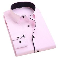New Arrival Mens Turn-Down Collar Formal Shirts Men Long Sleeve Slim Fit Casual Shirt Mens Solid Color/Plaid Dress Shirts Slim Fit Casual Shirts, Formal Shirts For Men, Slim Fit Dress Shirts, Men Shirts, Stylish Shirts, Stylish Outfits, Business Shirts, Business Casual Men, Men Casual