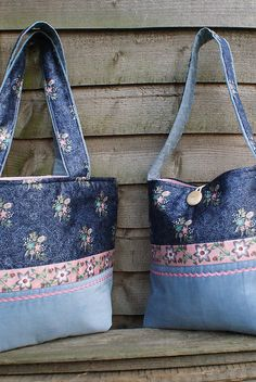 New tote bags for spring by SandraStJu, via Flickr