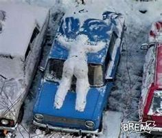 This is a hilarious snow-man!