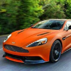 Cool Orange Aston Martin
