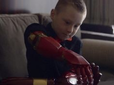 Get ready to have all the feels. Robert Downey Jr. helps a 7-year old fan born with a partially developed right arm get a new, 3D-printed bionic Iron Man arm.