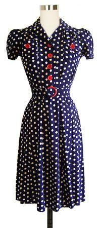 1940s Sweetie Dress by Trashy Diva - Polka Dot