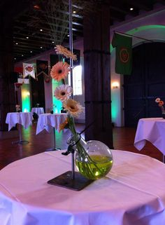 Borddekorasjon med grønt vann oppi Fair Grounds, Table Decorations, Fun, Home Decor, Decoration Home, Room Decor, Home Interior Design, Dinner Table Decorations, Home Decoration