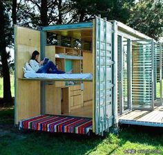 another idea for a guest room at the ranch...shipping container conversion.