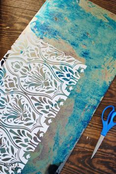 Damask Mirror Antiquing Tutorial. Gorgeous!