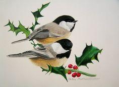 Christmas chickadees!!!
