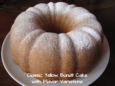 Big Mama's Home Kitchen: Classic Yellow Bundt Cake with Flavor Variations Cupcake Icing, Baking Cupcakes, Cupcake Cakes, Bundt Cakes, Frosting, Cake Recipes, Dessert Recipes, Desserts, Pecan Cake