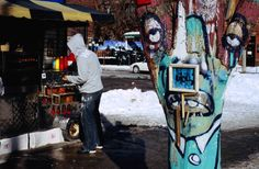 Bohemian art on Queen Street West - Toronto.