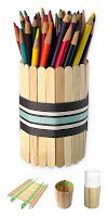 Popsicle Stick Pencil Holder Art Projects for Kids: Father's Day Pencil Holder With Popsicles Kids Crafts, Projects For Kids, Easy Crafts, Diy And Crafts, Craft Projects, Arts And Crafts, Craft Ideas, Easy Diy, Popsicle Stick Crafts