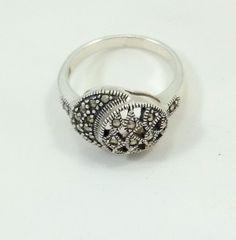 5 gr. Ring Size 8 Antique Look Stunning 92.5 silver fine Handmade Ring #Handmade