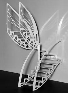 интересные идеи, удивительные решения, неожиданные применения и просто красивые лестницы Modern Staircase, Grand Staircase, Spiral Staircase, Spiral Stairs Design, Staircase Design, Attic Stairs, House Stairs, Stairs To Heaven, Escalier Design