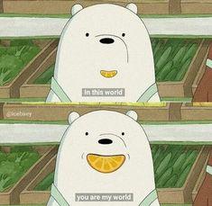 Nguồn: IG We Bare Bears Wallpapers, Panda Wallpapers, Cute Cartoon Wallpapers, Ice Bear We Bare Bears, We Bear, Cartoon Quotes, Cartoon Pics, Cartoon Network, Bear Wallpaper