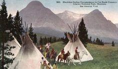 Who Were the Blackfoot Indians | blackfeet indian encampment