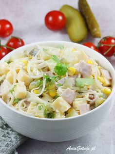 Salad Recipes, Potato Salad, Dinner Recipes, Food And Drink, Soup, Lunch, Meals, Ethnic Recipes, Kitchen