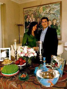 Prince Ali Pahlavi and Raha Didavar, Iryana's mother.