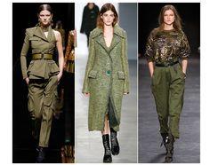 20 trends for Fall/Winter 2014-2015 Military khaki Balmain Calvin Klein Isabel Marant