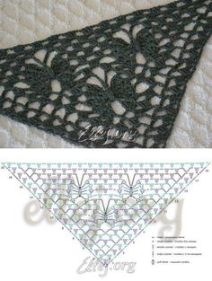 63 Ideas Crochet Lace Shawl Pattern Baby Blankets For 2019 Shawl Patterns, Crochet Stitches Patterns, Crochet Chart, Crochet Motif, Crochet Lace, Knitting Patterns, Crochet Shawl Diagram, Blanket Patterns, Crochet Ideas