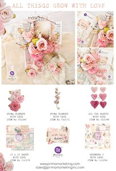Love is in the air and the new With Love Collection by Frank Garcia, will make your heart flutter with glee. The delicate touches, soft color palette, and classical aesthetic of this collection are perfect for those heart-felt creations. Take a gander at this enjoyable collection. Click to check out our products and find a retailer near you! #primamarketinginc #createwithprima #PrimaMarketing #Prima #PrimaFlowers #scrapbook #mixedmedia #art #embellishment #flowers #frankgarcia