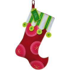 Felt Stockings - I like the colorful, whimsical look for Christmas in July