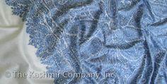 Kashmir Jama Embroidery Blue Shawl