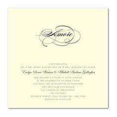 Sentimental Script Wedding Invitation @ http://www.fresnoweddings.net/candy.html?m=product=097509