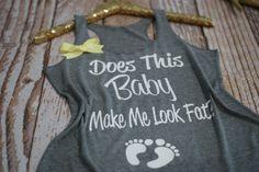 Pregnancy Tank Top. Funny Pregnancy Shirt. by strongconfidentYOU