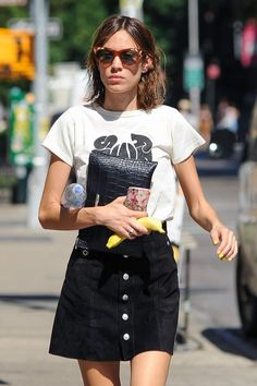"chungit-up: "" Alexa Chung out and about in Soho, NY 