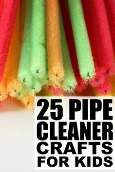 If your kids enjoy playing with pipe cleaners as much as my daughter does, make sure to bookmark this collection of fabulous pipe cleaner crafts for kids! These kids crafts make the perfect indoor activities for bad weather days, and are a great way to keep sick kids occupied when they are too ill to go to school.