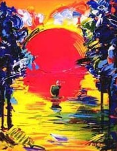 Better World 1991 by Peter Max - Lithogragh