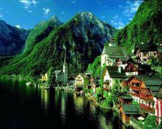 Summer Green, Hallstatt, Austria  photo via vintage