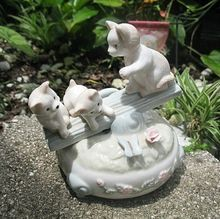 Seesaw Kitty Cats Music Box Plays Memory